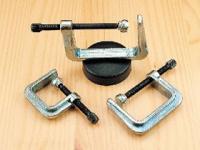 3 Schraubklemmen mit Magnetfuß