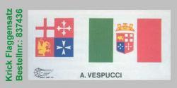 Flaggensatz Amerigo Vespucci 1:100