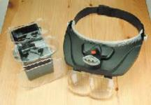 Kopfbandlupe Deluxe LED Beleuchtung + 4 Linsen