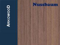 Holzbrettchen Nussbaum 1,5 x 80 x 500 mm
