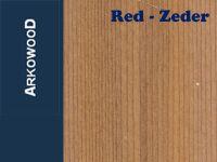 Holzbrettchen Red-Zeder 2 x 100 x 1000 mm