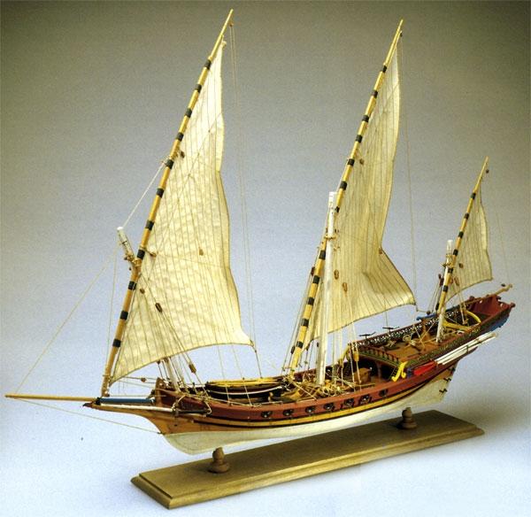 Bauplan Sciabecco Piratenschiff 1:60