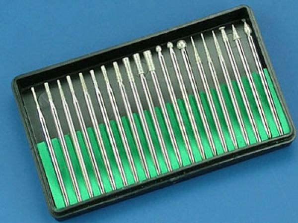 Diamantfräser 2,3 mm Schaft, diverse Formen (20)