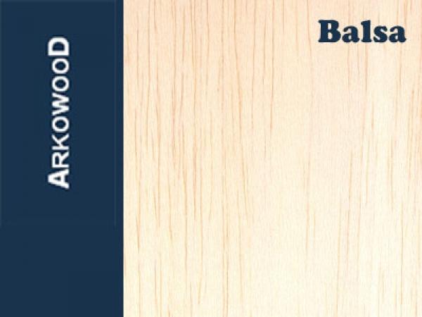Holzbrettchen Balsa 8 x 100 x 1000 mm