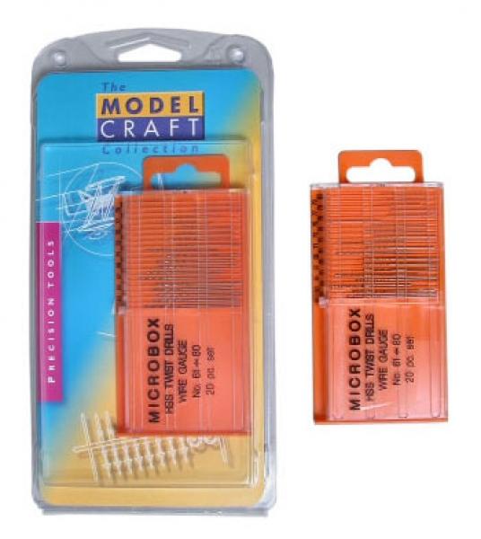 Microbox 20 HSS Bohrer 61-80 Wire Gauge