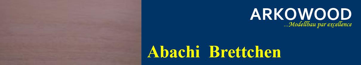 Brettchen Abachi