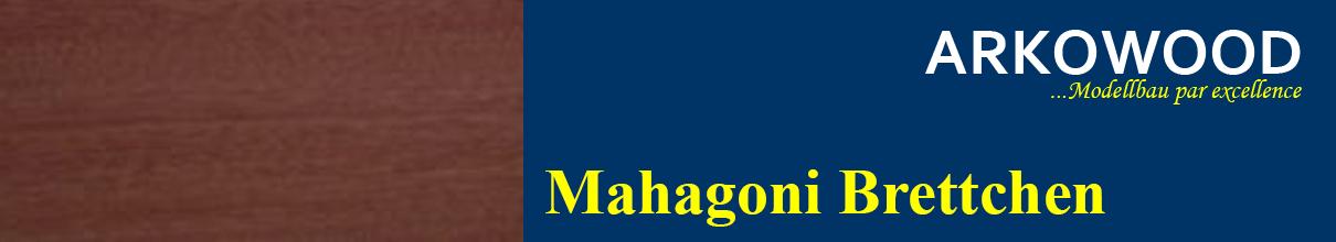 Brettchen Mahagoni