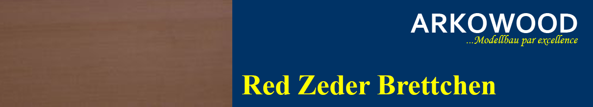 Brettchen Red Zeder